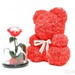 Тренд роза в колбе оптом premium арт 434636, Томск