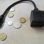 HDMI разветвитель на 2 монитора 1 вход папа - 2 выхода мама пассивный, Томск