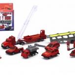 Большой игровой набор пожарных машинок (14 предметов), Томск