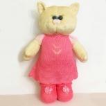 Мягкая игрушка кошка в платье, Томск