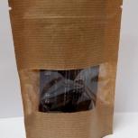 Пакет бумажный крафт дойпак с замком зип лок с прозрачным окном, Томск