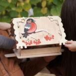 Кормушка (скворечник) для птиц с местом для декупажа, Томск