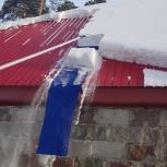 Движок для чистки крыши от снега, Томск
