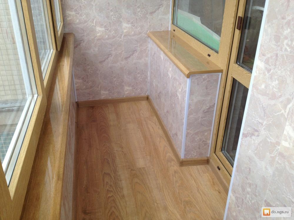 Обшивка балконов и лоджий деревом . цена - 2700.00 руб., том.