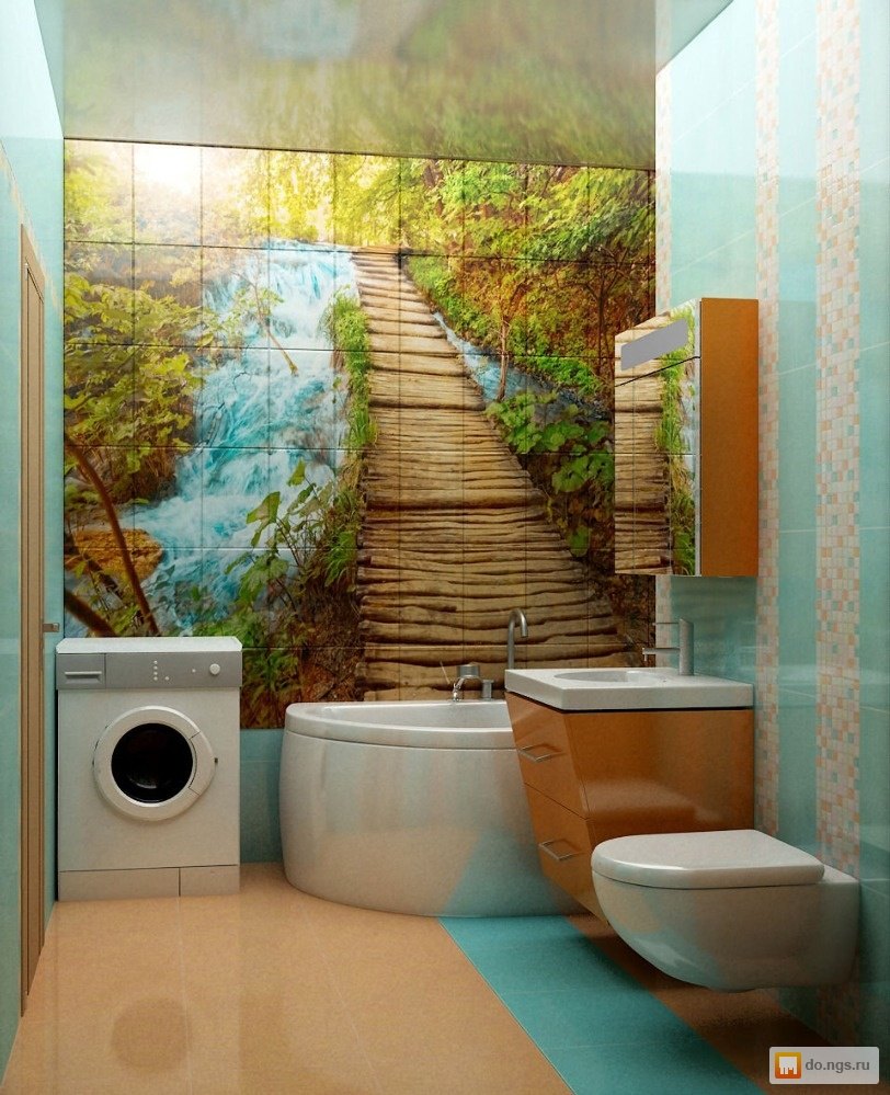 плитка для ванной комнаты с панно фото дизайн